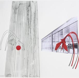 RedBall Chicago - Site Study - Calder Flamingo, Federal Plaza (1