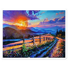 "Stickers ""Evening Sun"" by Gudzart"