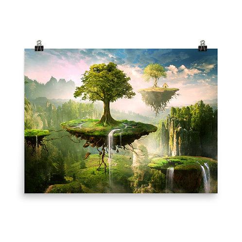 "Poster ""Floating Islands"" by ElenaDudina"
