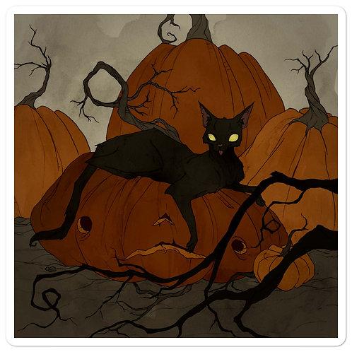 "Stickers ""Black Cat"" by AbigailLarson"