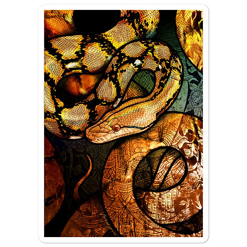 """Stickers """"Reticulated Python"""" by Culpeo-Fox"""
