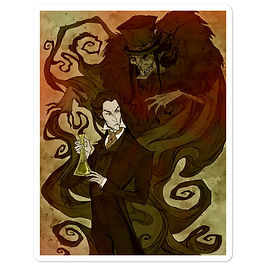 """Stickers """"Jekyll and Hyde"""" by AbigailLarson"""