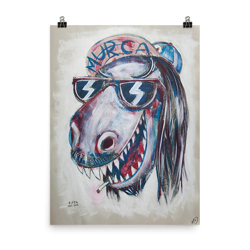 """Poster """"Dinosaur Jesus"""" by MikeOncley"""