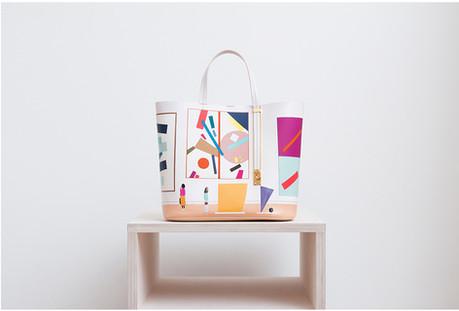 Handbag design for Sophie Hulme, with intarsia details