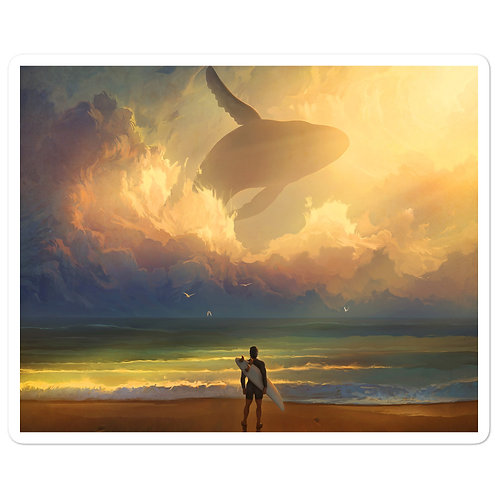 """Stickers """"Waiting for the Wave"""" by RHADS"""