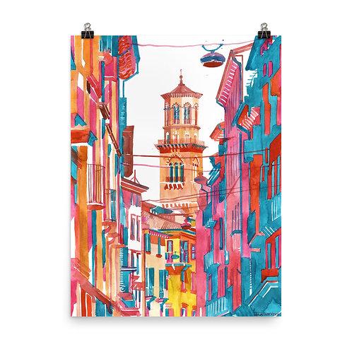 "Poster ""Verona Street"" by Takmaj"