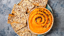 A protein-rich veggie dip we're putting on all the things