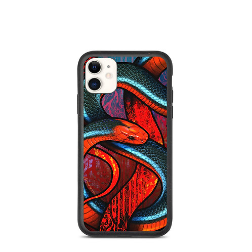 """iPhone case """"Blue Coral Snake"""" by Culpeo-Fox"""