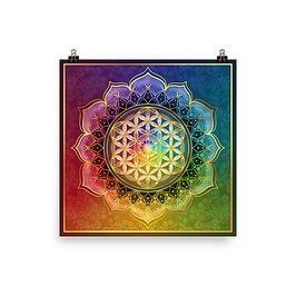 """Poster """"Rainbow Flower of Life"""" by Lilyas"""