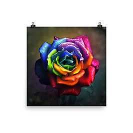 """Poster """"Rainbow Dream Rose"""" by Lilyas"""