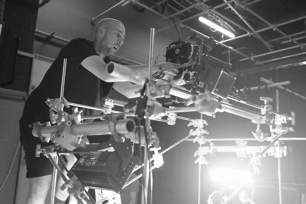 camera and light set up process