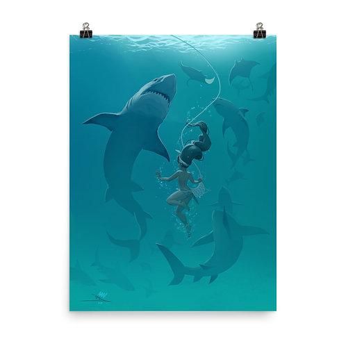 "Poster ""Pearl Diver"" by vashperado"