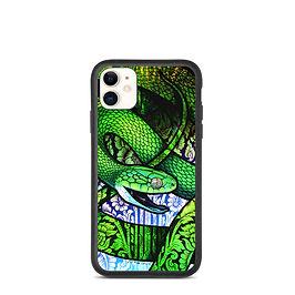 "iPhone case ""Green Cat Snake"" by Culpeo-Fox"
