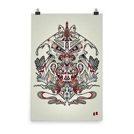 """Poster """"monkebprintpres"""" by remiismeltingdots"""