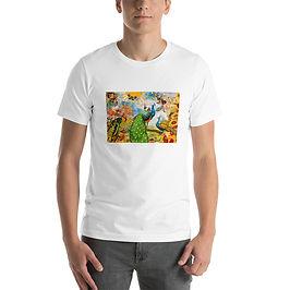 "T-Shirt ""Peacock Garden"" by phatpuppyart-studios"