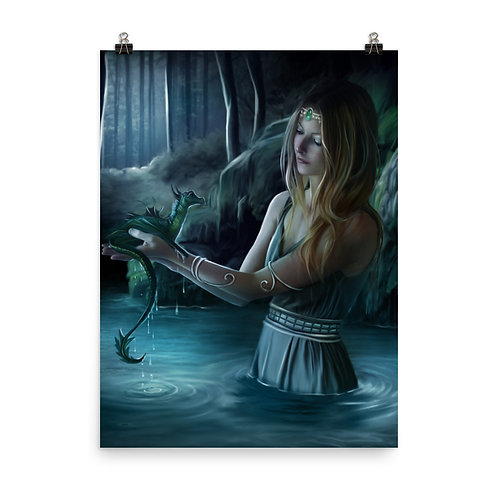"Poster ""Baby Dragon"" by ElenaDudina"