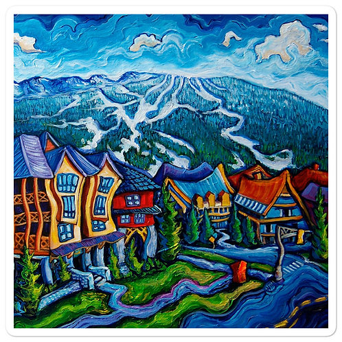 "Stickers ""Whistler Village"" by LauraZee"