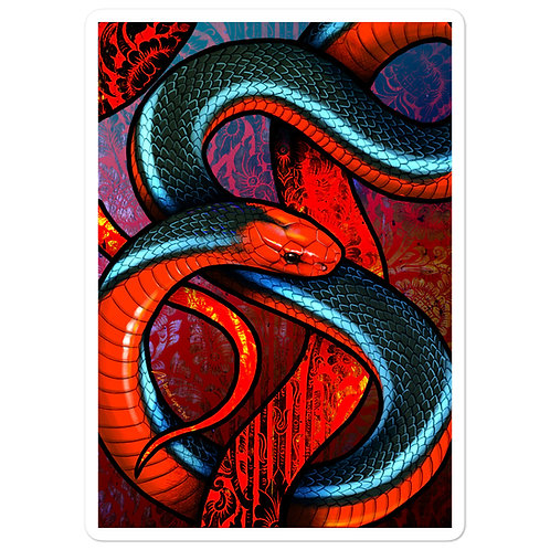 """Stickers """"Blue Coral Snake"""" by Culpeo-Fox"""