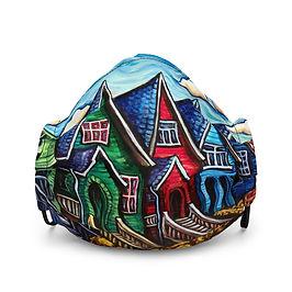 """Mask """"Kitsilano Neighbourhood"""" by LauraZee"""