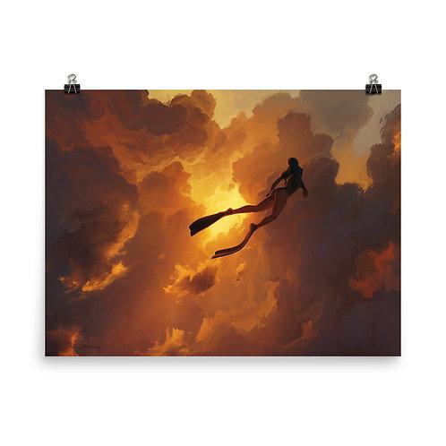 "Poster ""Freedive"" by RHADS"