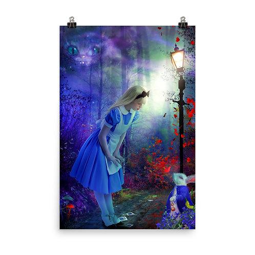 "Poster ""Back to Wonderland"" by phatpuppyart-studios"
