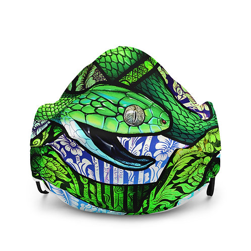 "Mask ""Green Cat Snake"" by Culpeo-Fox"