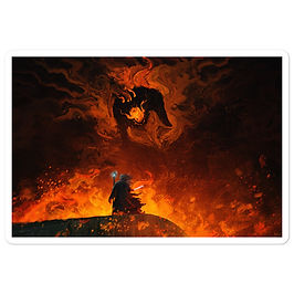 """Stickers """"The Shadow and the Flame"""" by Anatofinnstark"""