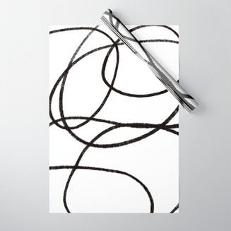 Scribble wrapping paper