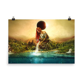 """Poster """"Fountain of Eternity"""" by Aegis-Illustration"""