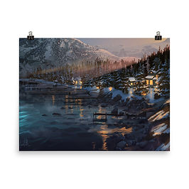 """Poster """"Lake Tahoe"""" by chateaugrief"""