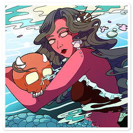 """Stickers """"Under the Tides"""" by MoxxiMonroe"""