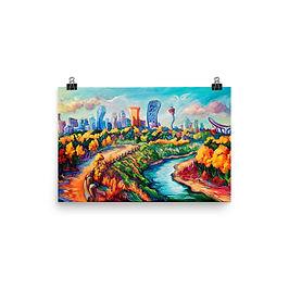 """Poster """"Calgary Horizon"""" by LauraZee"""