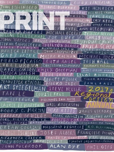 PRINT Magazine, 2017 Regional Design Awards Cover