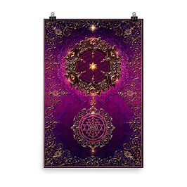 """Poster """"Cosmic Love"""" by Lilyas"""