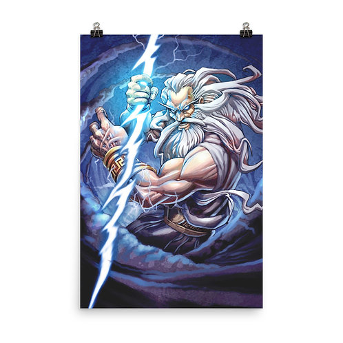 """Poster """"Zeus"""" by el-grimlock"""