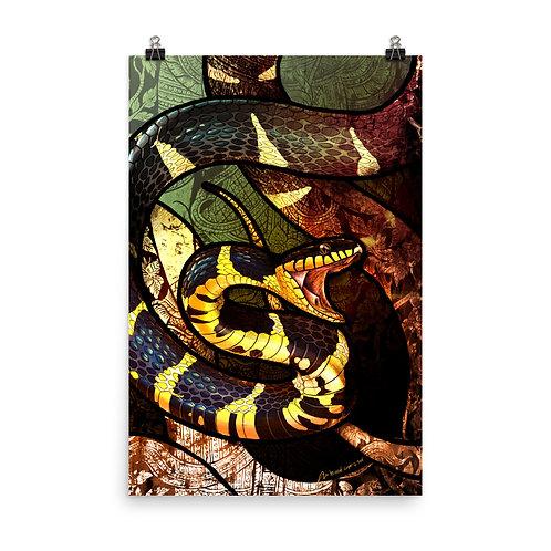 "Poster ""Mangrove Snake"" by Culpeo-Fox"