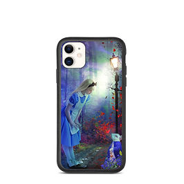 "iPhone case ""Back to Wonderland"" by phatpuppyart-studios"