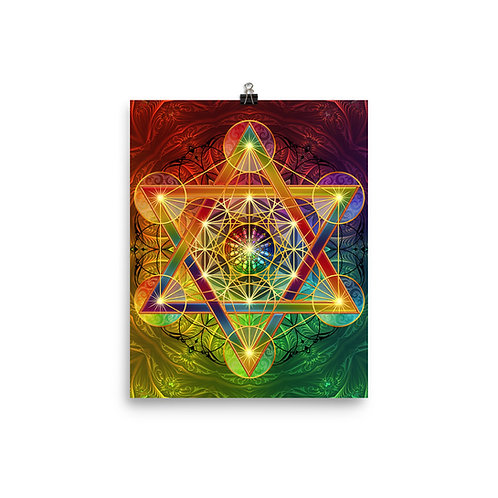 """Poster """"Rainbow Metatron's Cube"""" by Lilyas"""
