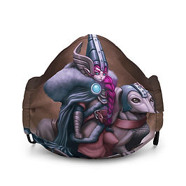 "Mask ""Viking Gnome and Warg Wiener"" by DasGnomo"