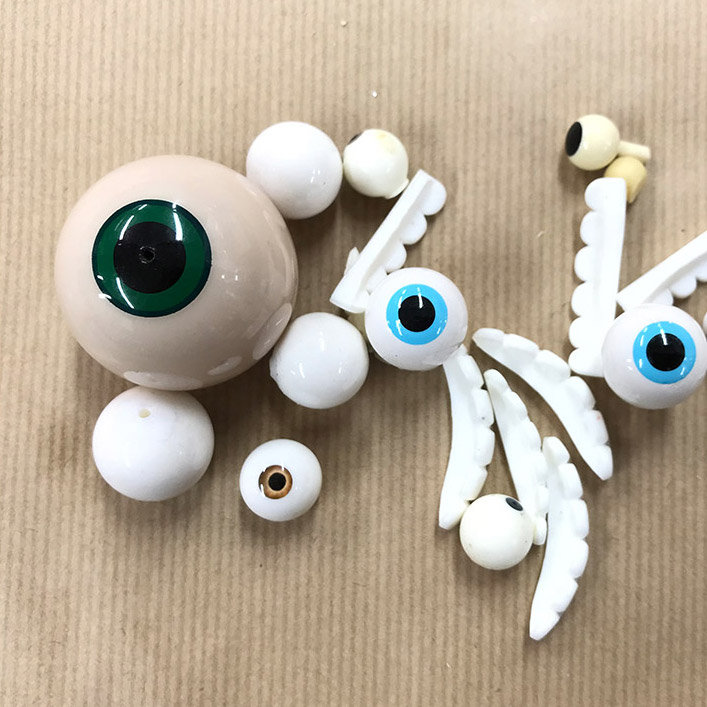 fake eyes and other props