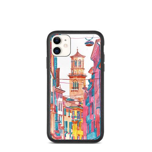 "iPhone case ""Verona Street"" by Takmaj"