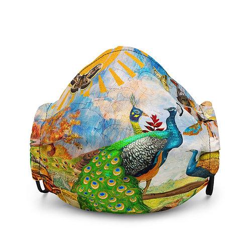 "Mask ""Peacock Garden"" by phatpuppyart-studios"