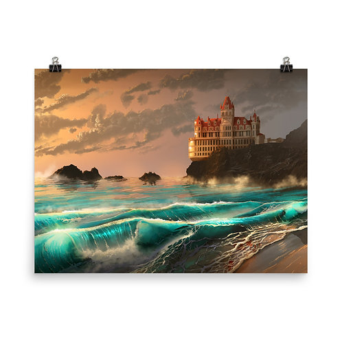 """Poster """"Cliff House"""" by chateaugrief"""