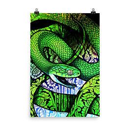 "Poster ""Green Cat Snake"" by Culpeo-Fox"