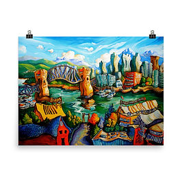 """Poster """"Granville Island"""" by LauraZee"""