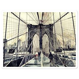 """Stickers """"Brooklyn Bridge"""" by Takmaj"""