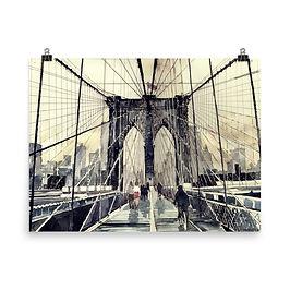 """Poster """"Brooklyn Bridge"""" by Takmaj"""
