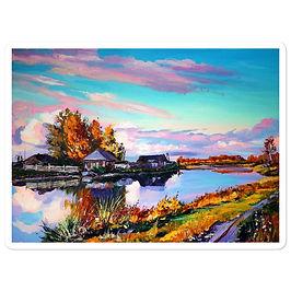 """Stickers """"Near the Pond"""" by Gudzart"""