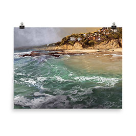 """Poster """"Laguna Beach"""" by chateaugrief"""