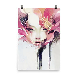 """Poster """"Bauhinia"""" by Escume"""